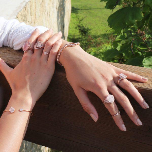 anello cuore zirconi pavé argento 925