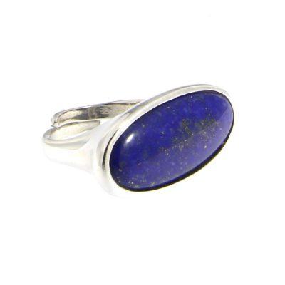 anello ovale lapislazzuli argento 925