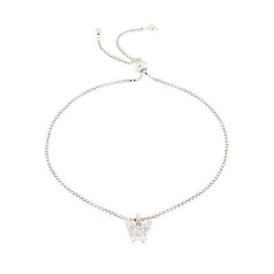 bracciale charm farfalla zirconi in argento 925