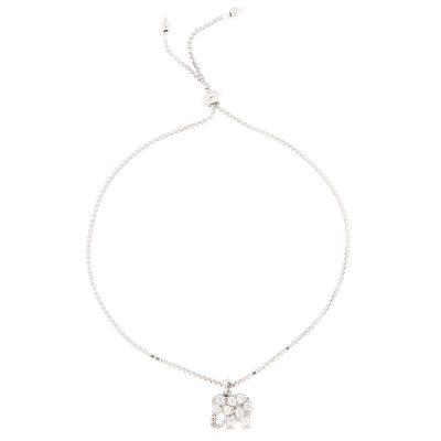 bracciale charm elefantino di zirconi in argento 925