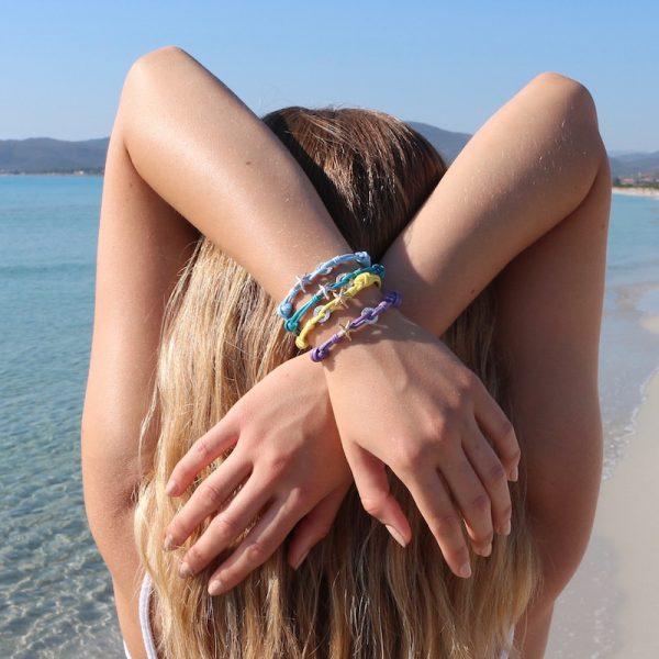 bracciale cordino stella marina argento 925