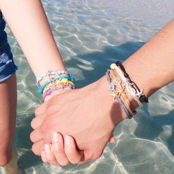 bracciale cotone stella marina indossato
