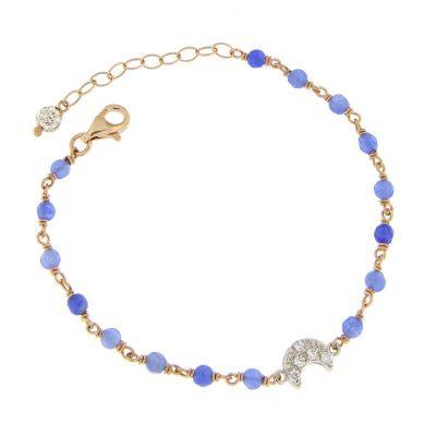 bracciale rosario agata blu luna