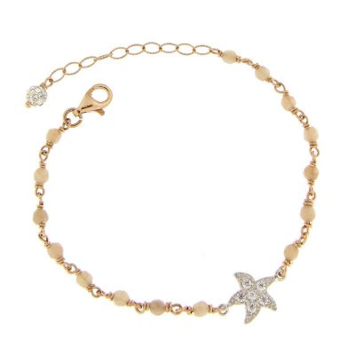bracciale rosario quarzo stella marina zirconi