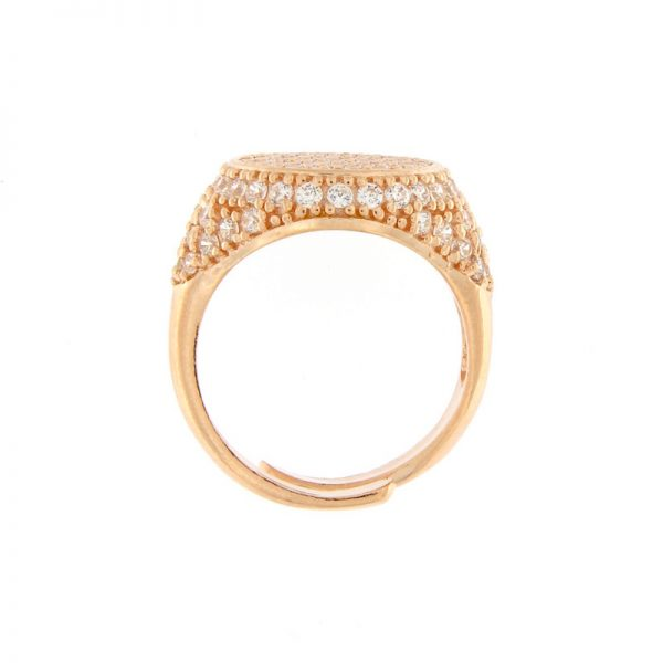 anello chevalier pavé zirconi