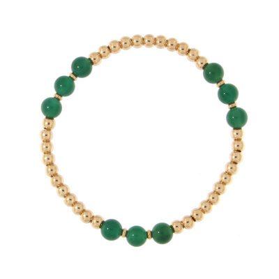 bracciale Boho Chic giada verde