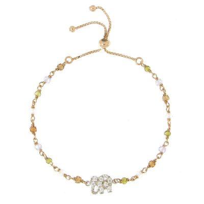bracciale rosario regolabile elefantino portafortuna