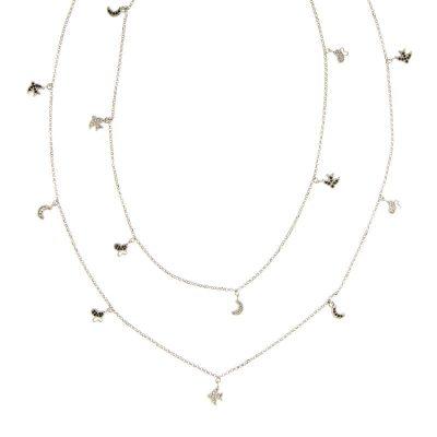 collana lunga charms argento