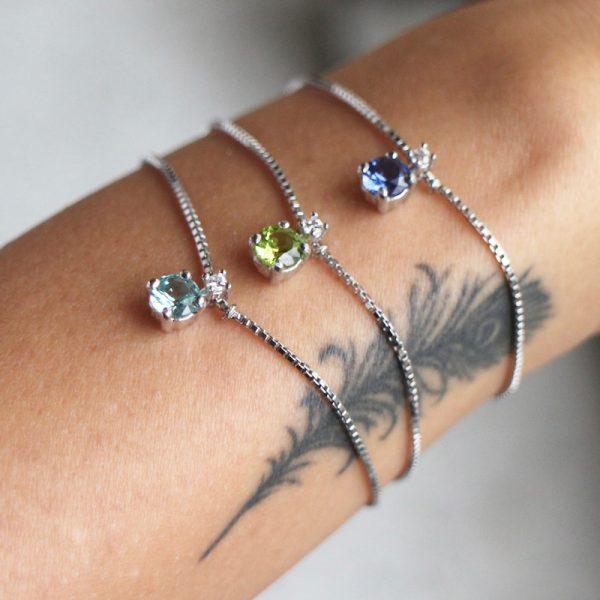 bracciale charm cristallo argento 925