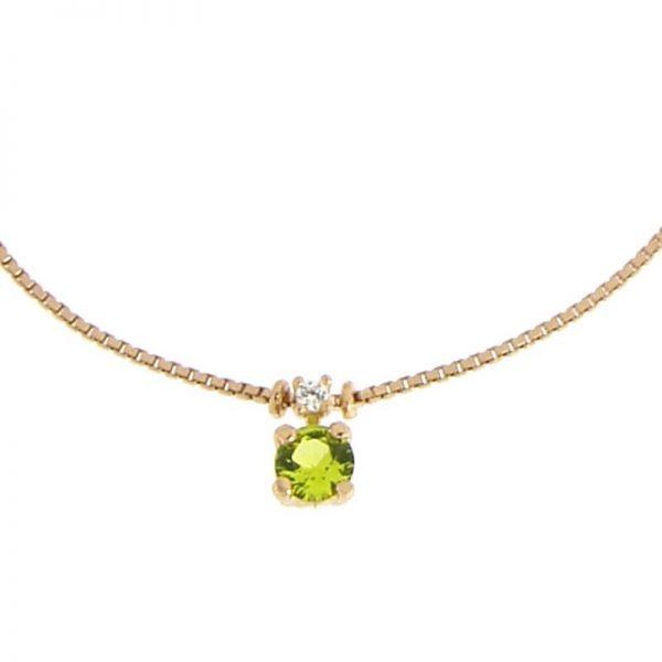 bracciale charm cristallo verde dorato dettaglio