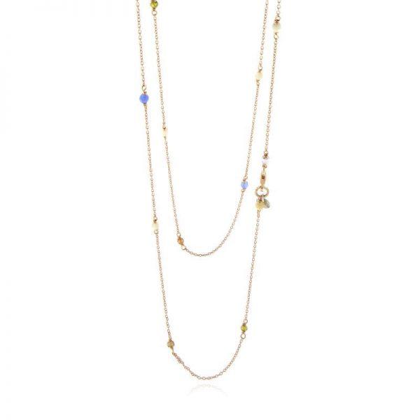 collana pietre colorate gialloro gioielli argento 925