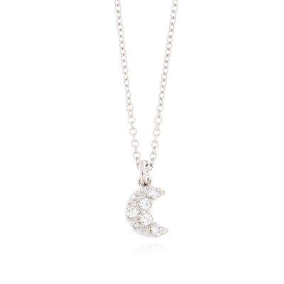 collana charm luna argento 925