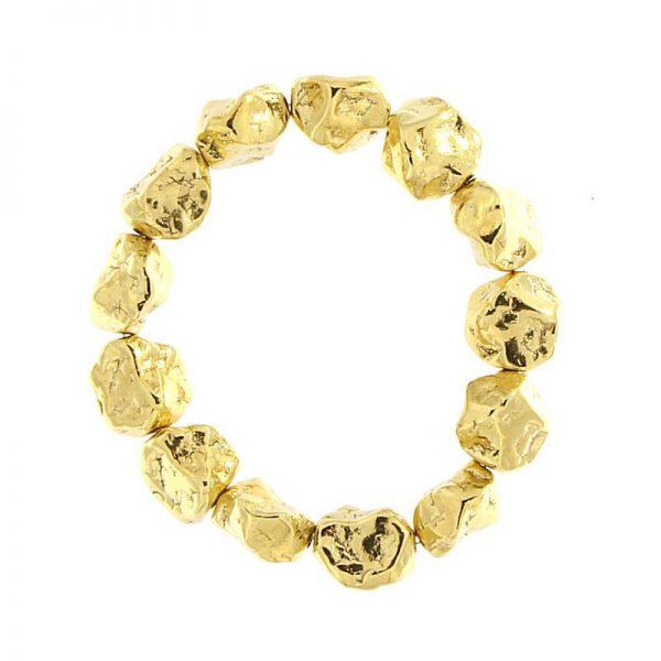 bracciale pepite d'argento 925 dorato giallo