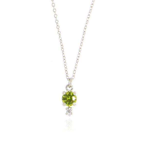 collana charm cristallo verde