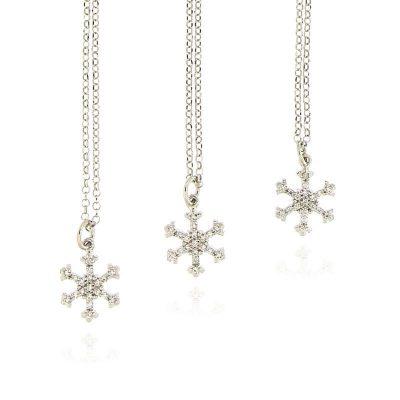 collana fiocco di neve argento 925 e zirconi