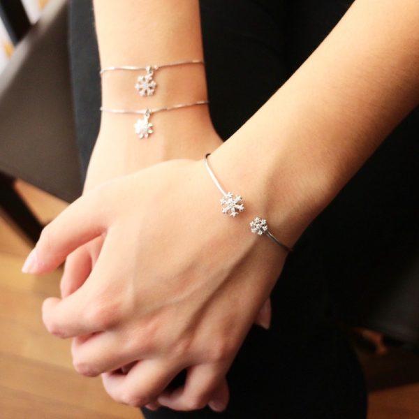 bracciale charm argento 925 e zirconi