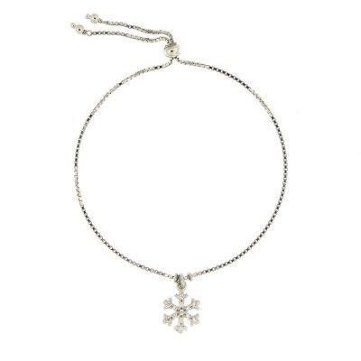 bracciale charm fiocco di neve argento 925