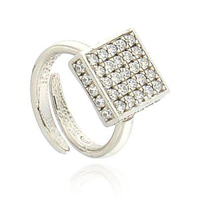 anello dado zirconi