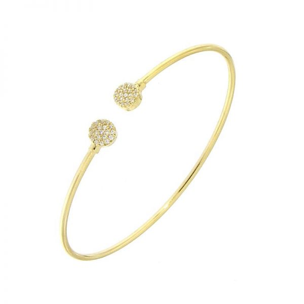 bracciale bangle zirconi dorato giallo