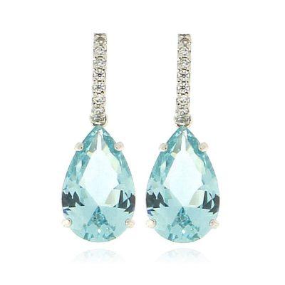 orecchini cristallo gocce azzurre