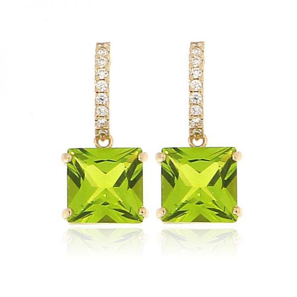orecchini cristallo mini verde