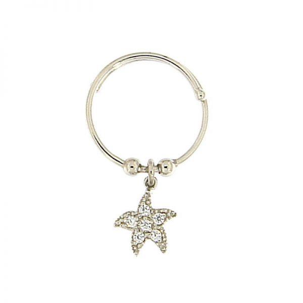 anello charm stella marina argento 925