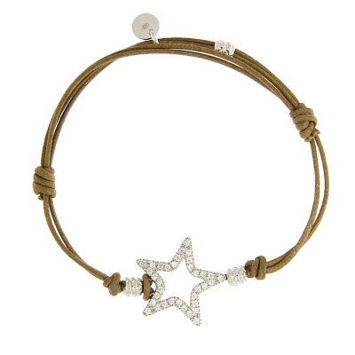 bracciale cordino stella zirconi
