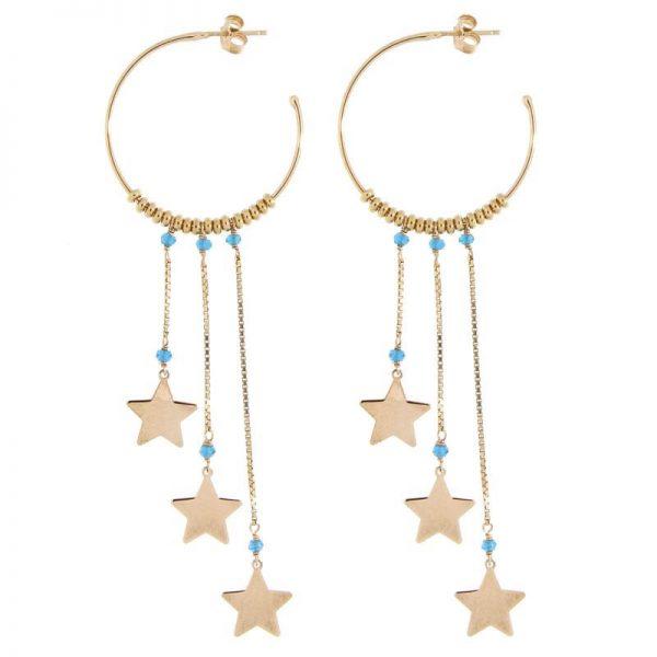 orecchini cerchio stelle