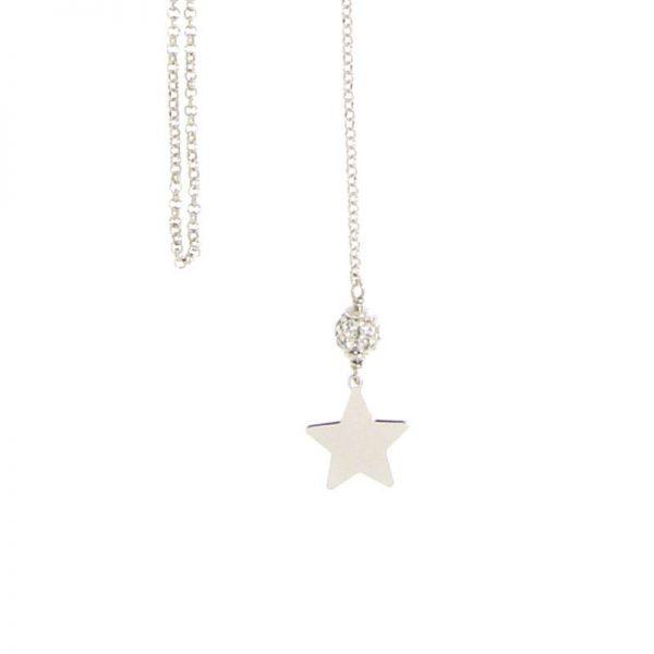 collana stellina saliscendi argento925