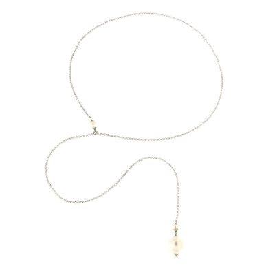 collana perla saliscendi argento 925