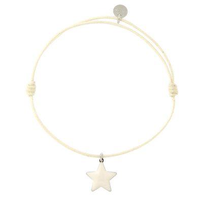 bracciale stella bianca smaltata