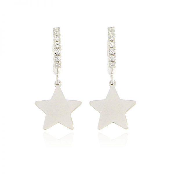 orecchini charm stella argento 925