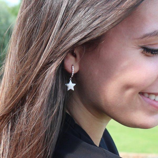 orecchini charm stella bianca Gialloro gioielli