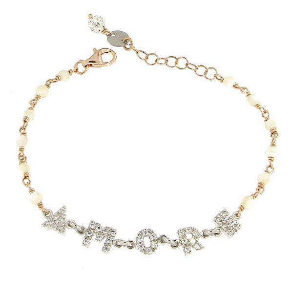 bracciale rosario amore agata e zirconi