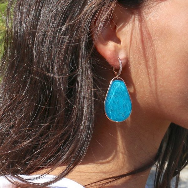orecchini goccia turchese
