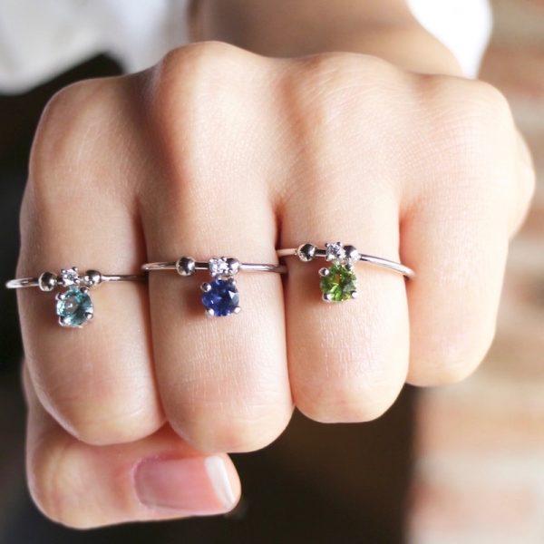 anello charm cristallo
