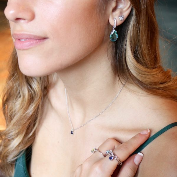 anello charm cristallo Gialloro