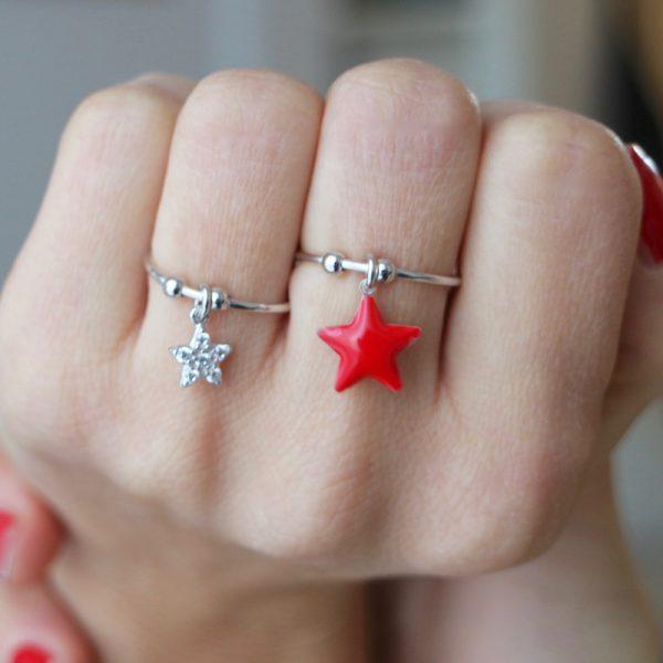 anello charm stella gialloro