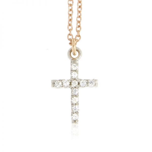 collana charm croce argento 925