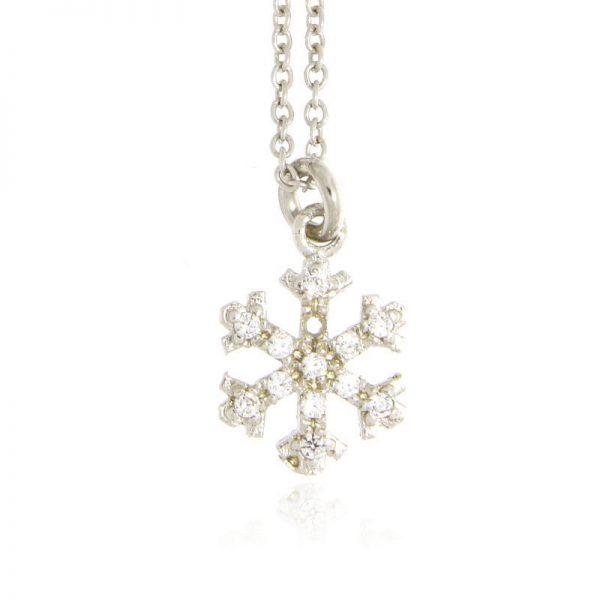 collana charm fiocco di neve A925