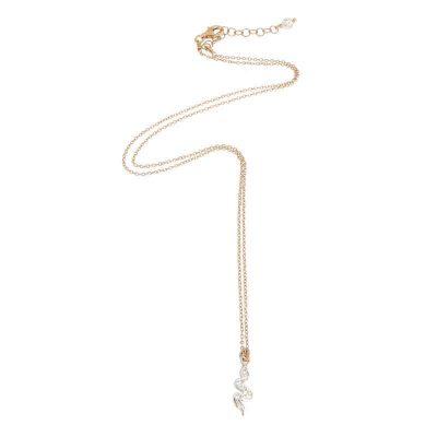 collana charm serpente argento 925