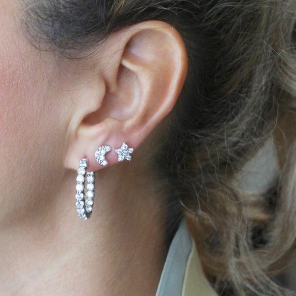orecchini Gialloro Argento 925 e zirconi