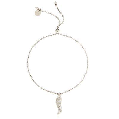bracciale charm cornetto zirconi argento 925