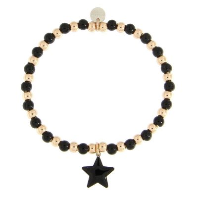 bracciale sfere stella nera