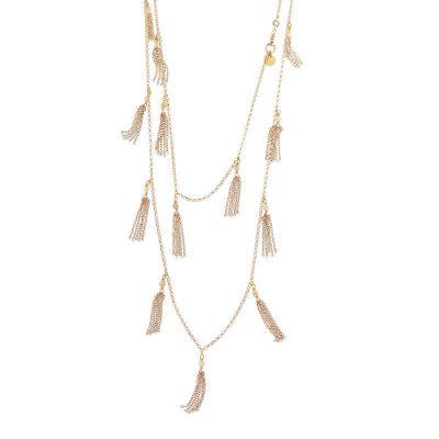 collana nappine quarzo rosa argento 925