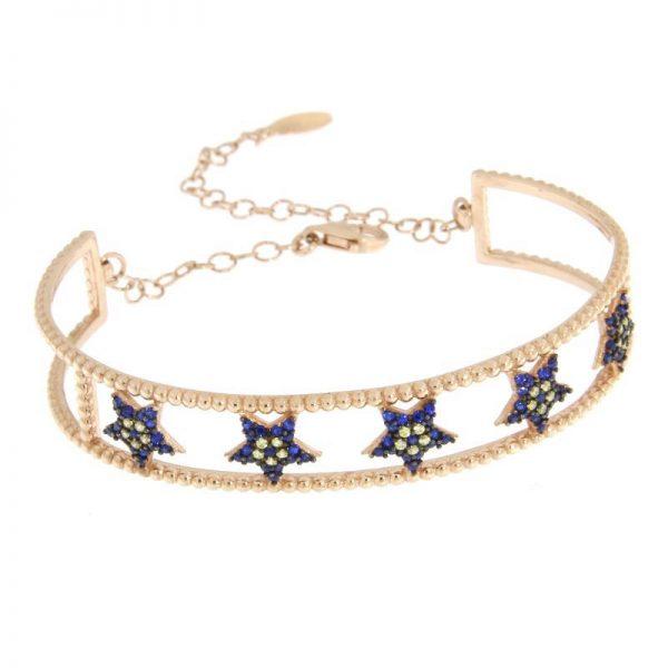 bracciale rigido stelle blu