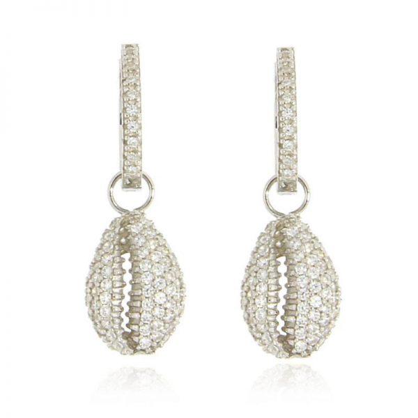 orecchini conchiglia rodio argento 925