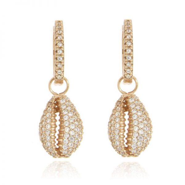 orecchini conchiglia rosa argento 925