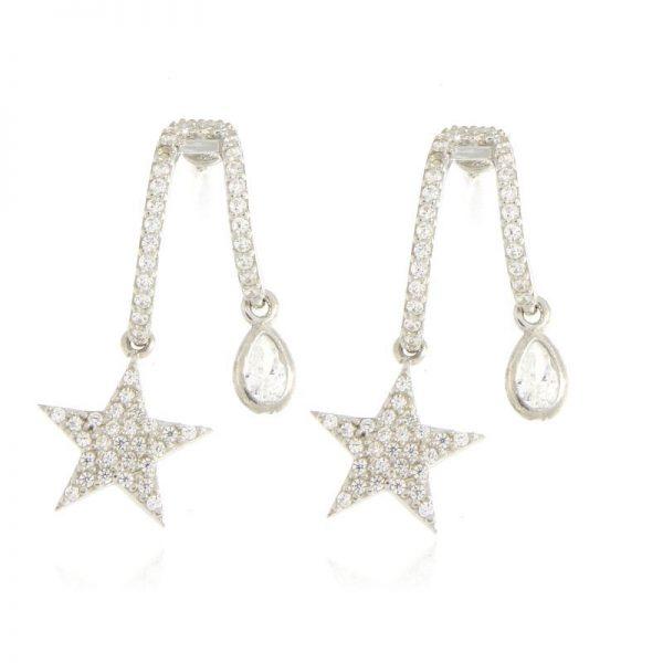 orecchini stella e goccia