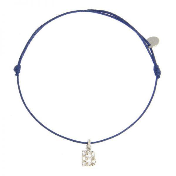 bracciale letterina blu